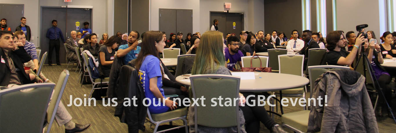 Join us at our next startGBC event!