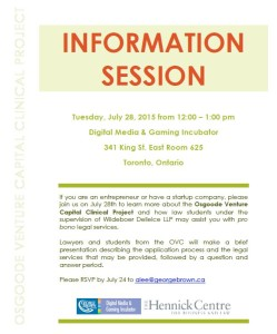 OSGOODE VENTURE CAPITAL INFORMATION SESSION