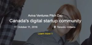Aviva Ventures Pitch Day 2016