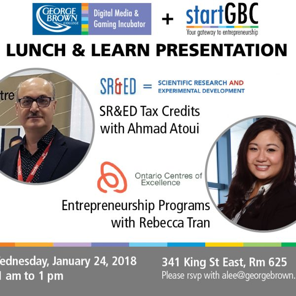Lunch & Learn Presentation – Programs That Support Entrepreneurs