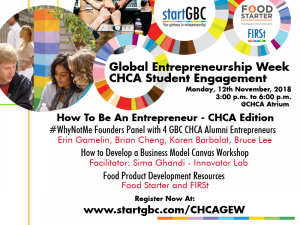 GBC Centre for Hospitality and Culinary Arts Global Entrepreneurship Week Student Engagement