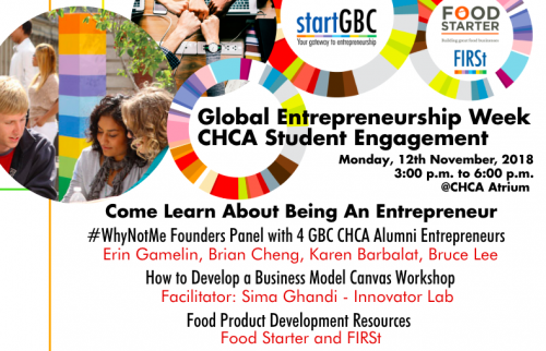 GBC Centre for Hospitality and Culinary Arts Global Entrepreneurship Week Student Engagement Event