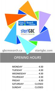 startGBC Collaboration Space Opening Times