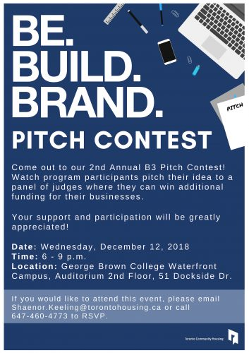 Be.Build.Brand. Pitch ContestBe. Build. Brand. is a 12-week entrepreneurial program targeted at youth interested in launching and developing their own business. The program equips youth with the hard and soft skills needed to tangibly start and sustain their business.