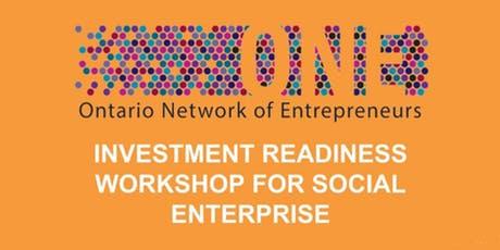 Ontario Network of Entrepreneurs Investment Readiness Workshop For Social Enterprise