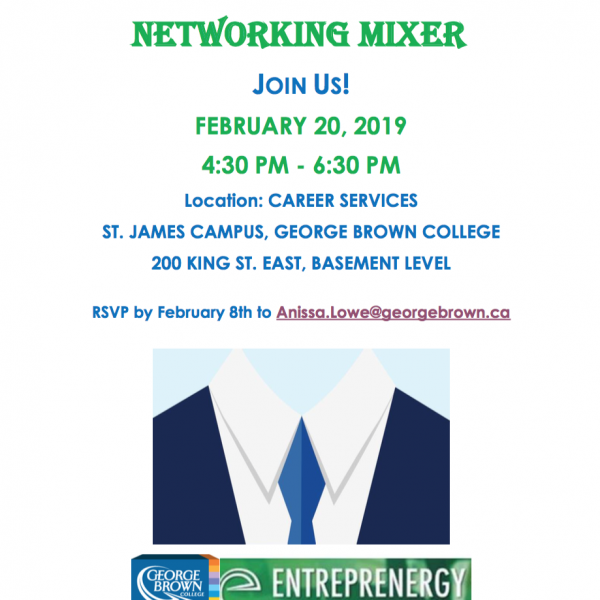 GBC's Entrepreneurship Club Networking Mixer