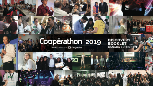 """A collage of images with the text """"Cooperation 2019"""" written in the middle"""