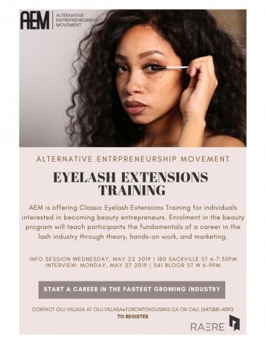 Eyelash extension training program