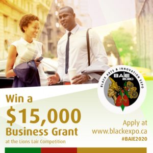 Black Arts & Innovation Expo Business Grant Logo