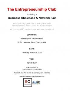 Business Showcase & Network Fair Banner