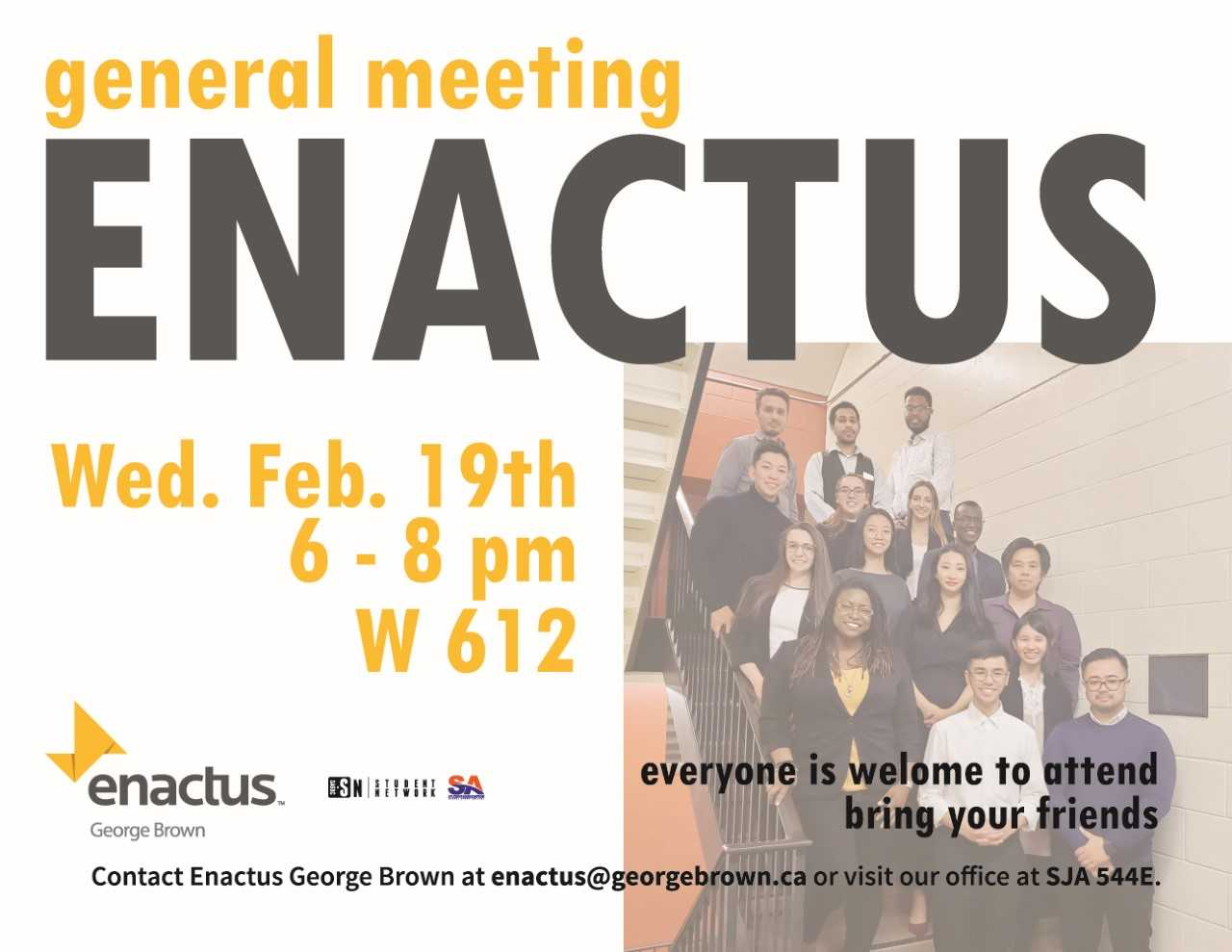 Enactus General Meeting Poster