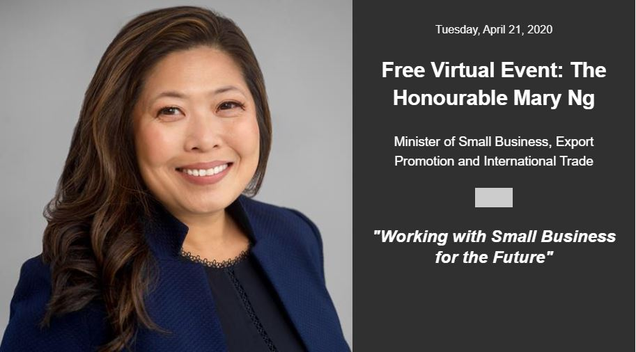 """""""Working with Small Business for the Future"""" The Honourable Mary Ng"""