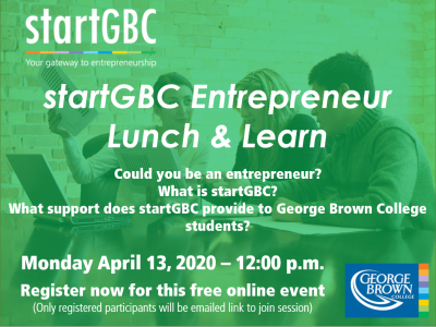 startGBC Lunch & Learn April 13, 2020