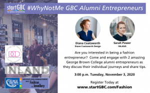 startGBC Fashion #WhyNotMe Panel Discussion November 3, 2020