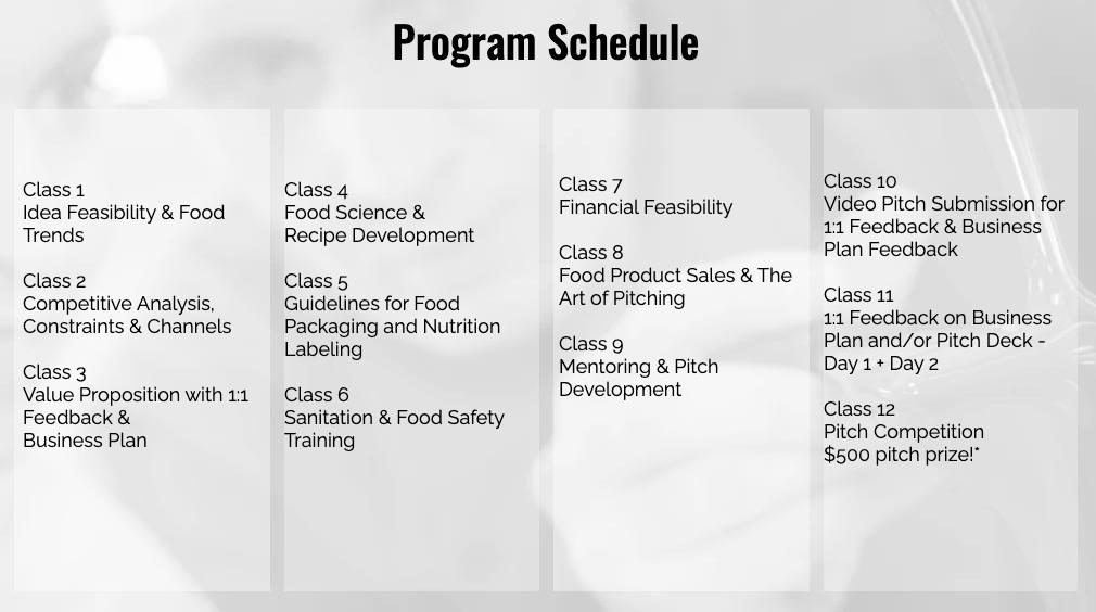 FVP Program Schedule